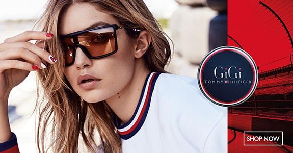 O estilista nova-iorquino Tommy Hilfiger também se aventurou a criar óculos  de sol com o espírito característico que define o seu vestuário. 0b96e7e322